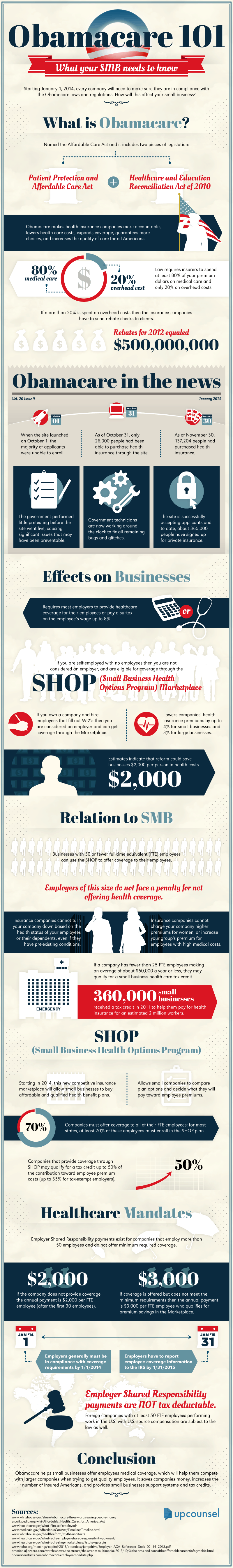 Obamacare 101: What Your Small Business Needs To Know Infographic