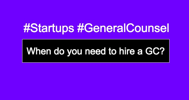 General Counsel for Startups